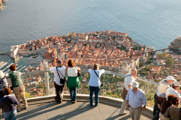 From the Srđ Hill the view over Dubrovnik is marvelous